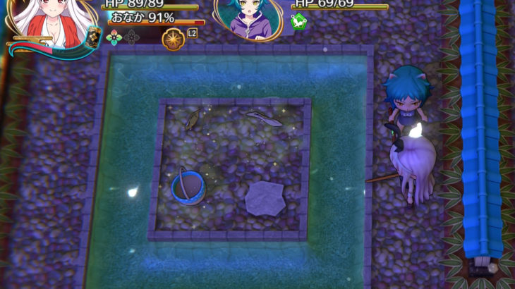 【湯けむり迷宮】島(水路)と隠し部屋のアイテム入手方法
